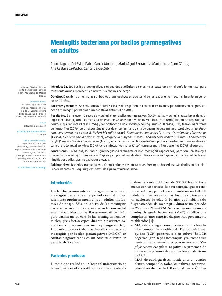 ORIGINAL                                      Meningitis bacteriana por bacilos gramnegativos                             ...