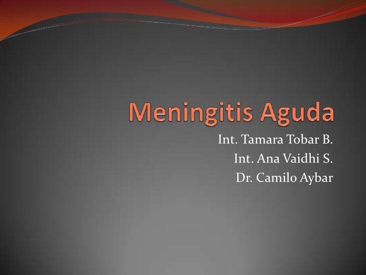 Meningitis Aguda<br />