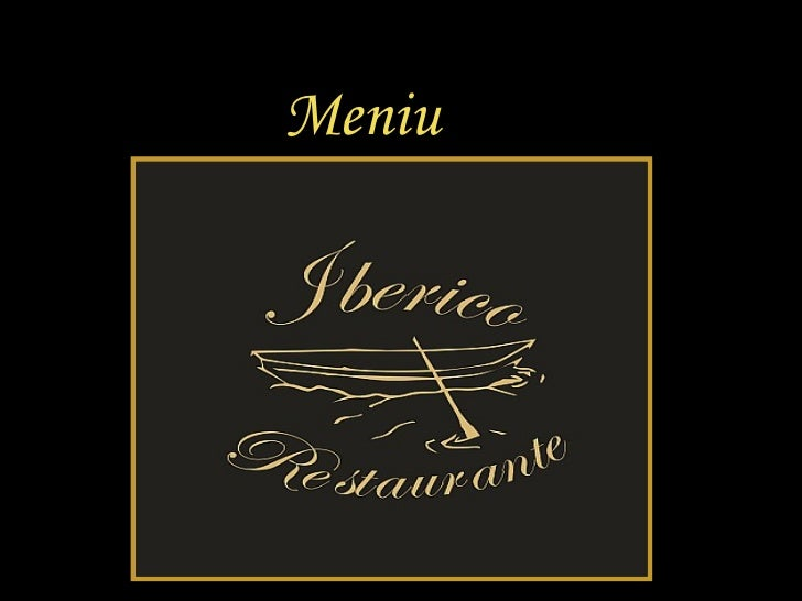 Meniu Restaurante Iberico