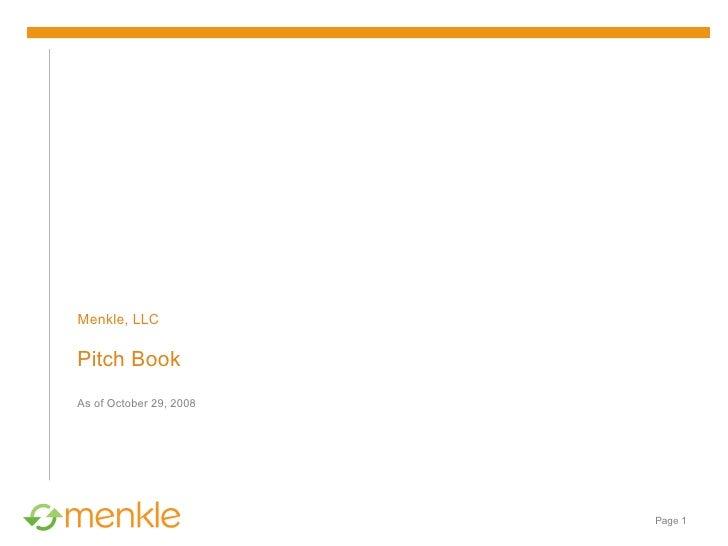 Menkle Executive Summary