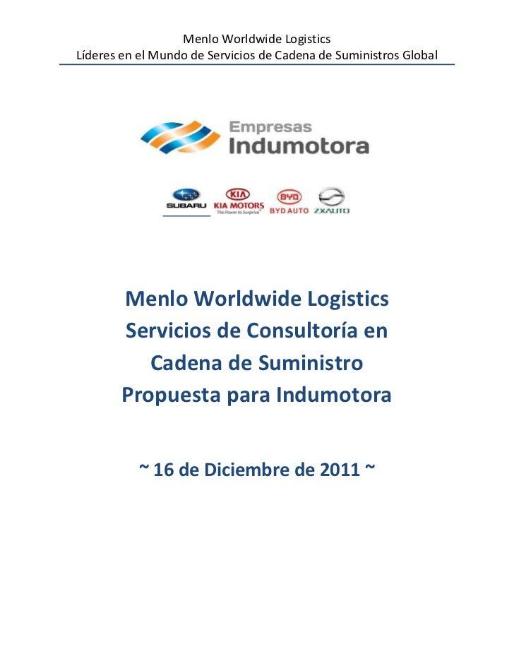 Menlo Worldwide LogisticsLíderes en el Mundo de Servicios de Cadena de Suministros Global        Menlo Worldwide Logistics...