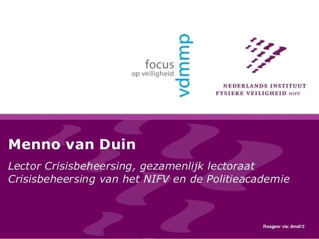 Onderzoek Infopunt Veiligheid Ervaringen sociale media en Alphen aan den Rijn
