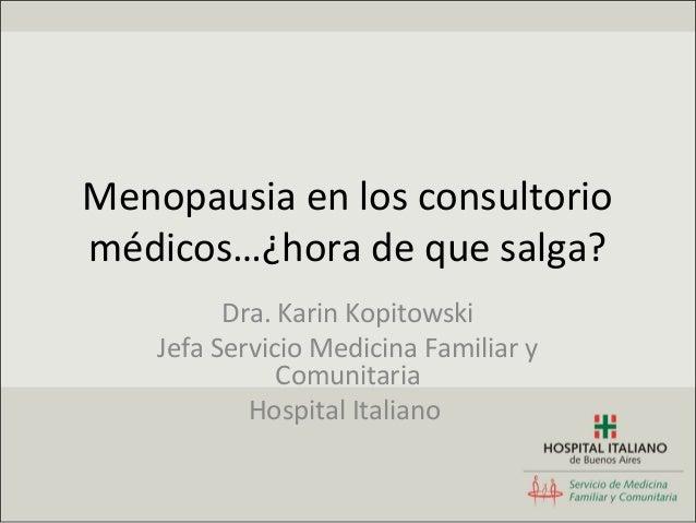 Menopausia samig 2012