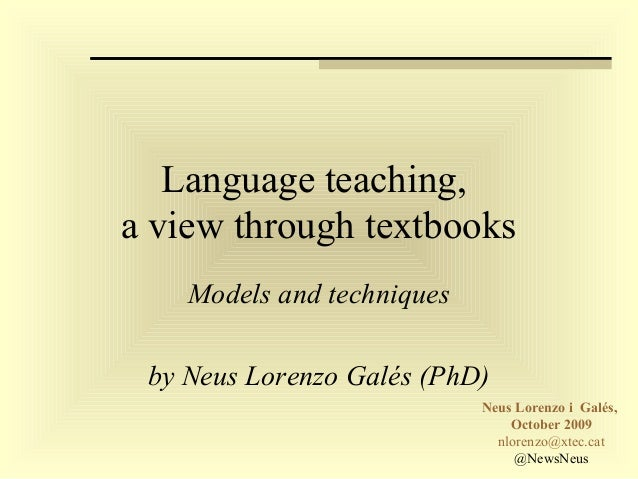Language teaching and learning: changing concepts