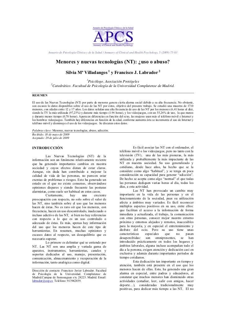 Anuario de Psicología Clínica y de la Salud / Annuary of Clinical and Health Psychology, 5 (2009) 75-83                   ...