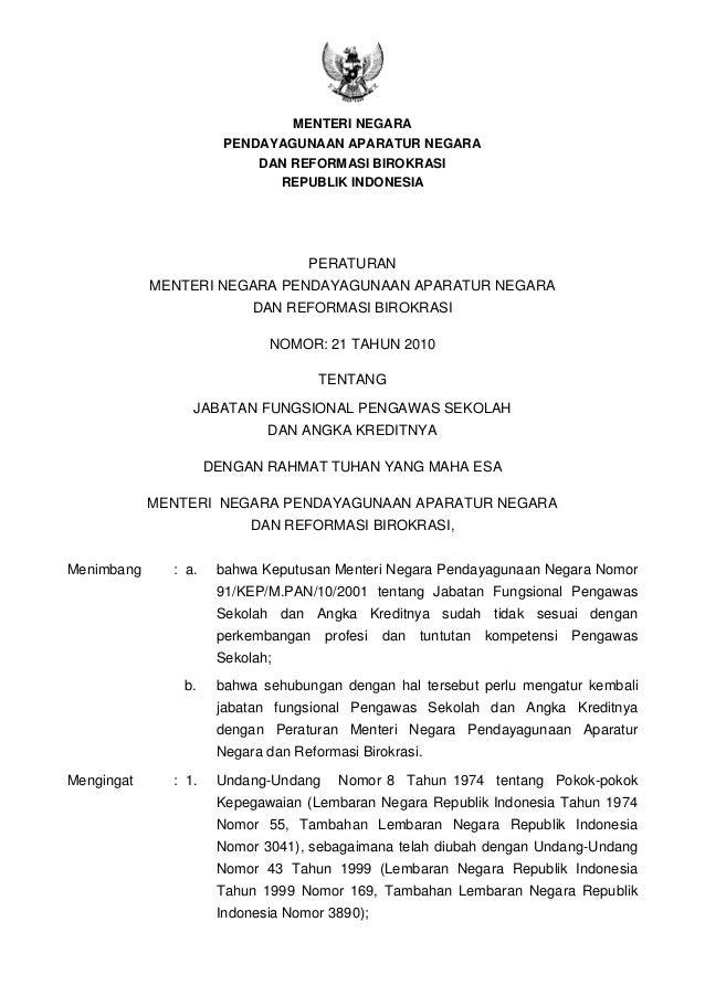 MENTERI NEGARAPENDAYAGUNAAN APARATUR NEGARADAN REFORMASI BIROKRASIREPUBLIK INDONESIAPERATURANMENTERI NEGARA PENDAYAGUNAAN ...