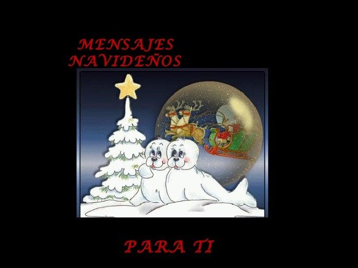Mensajes navideños para ti
