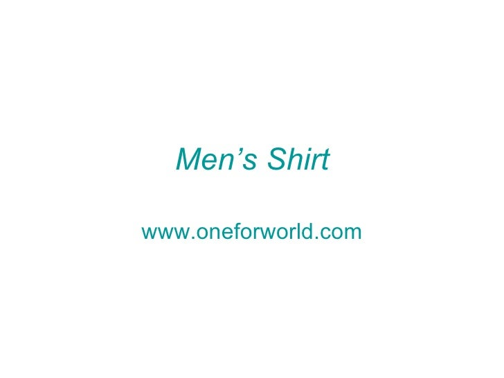 Men's Shirtwww.oneforworld.com