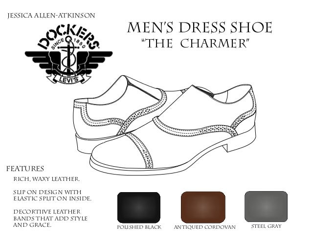 "Men's Dress Shoe ""The Charmer"" Features rich, waxy Leather. Slip on design with elastic split on inside. Decortiive leathe..."