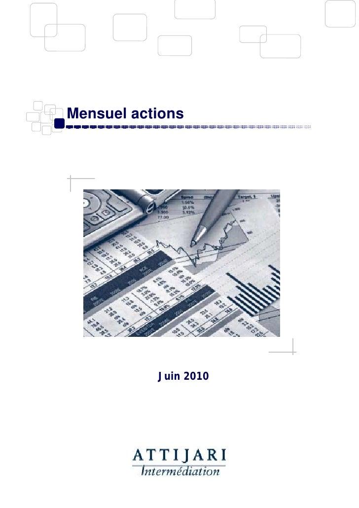 Mensuel actions juin 2010