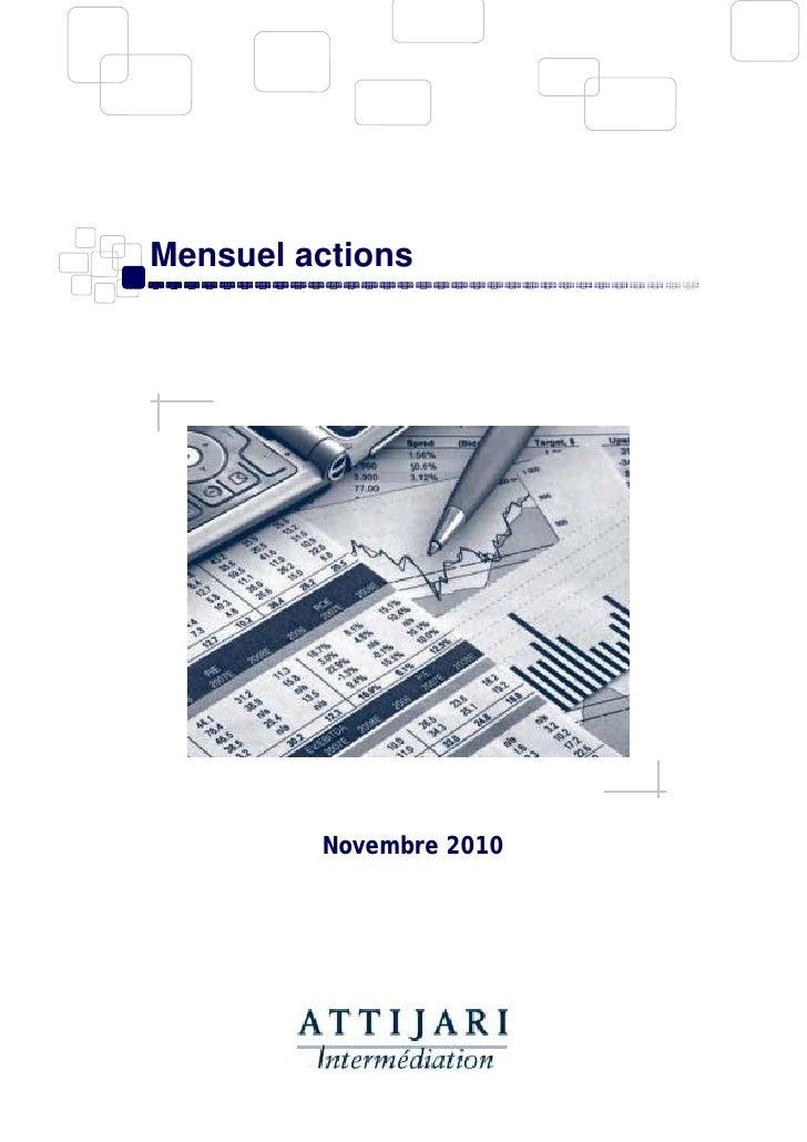 Mensuel actions novembre 2010