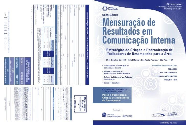 Mensuração de Resultados em Comunicação Interna