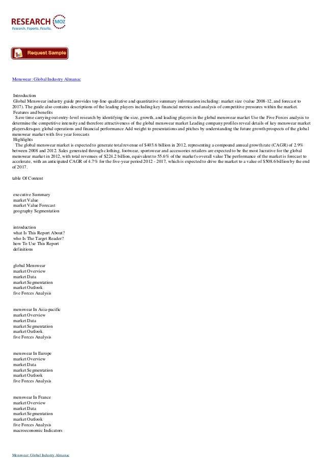Menswear  global industry almanac