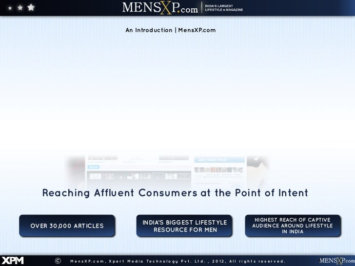 An Introduction | MensXP.com         Reaching Affluent Consumers at the Point of Intent                                   ...
