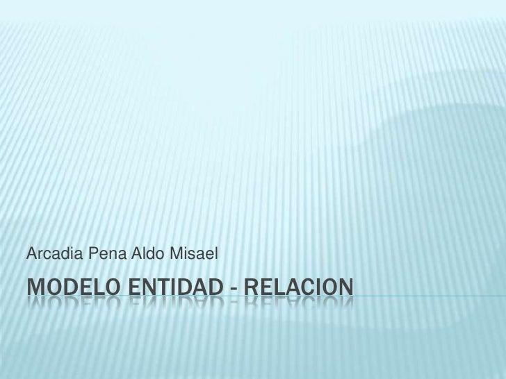 MODELO ENTIDAD - relacion<br />Arcadia Pena Aldo Misael<br />