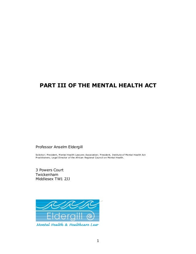 Mental health act 1983   mentally disordered offenders