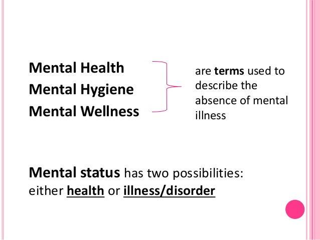 mental health and hygiene