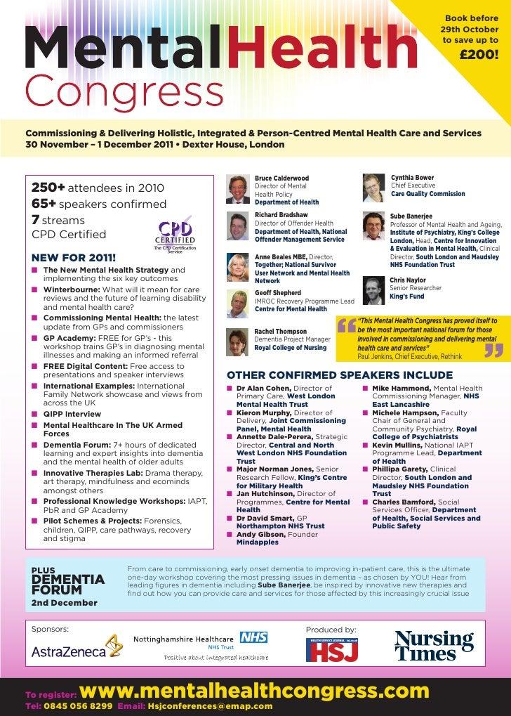 Mental Health Congress 2011 Brochure