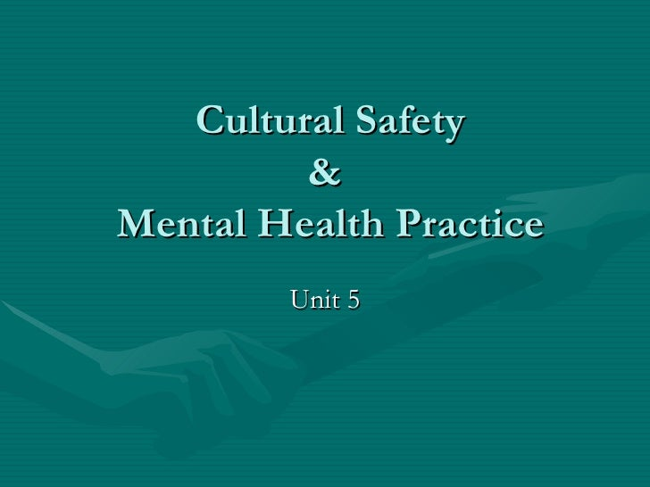Mental Health Cultural Safety
