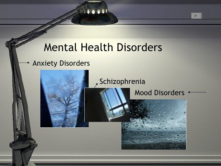 Mental Health Disorders L Dewing