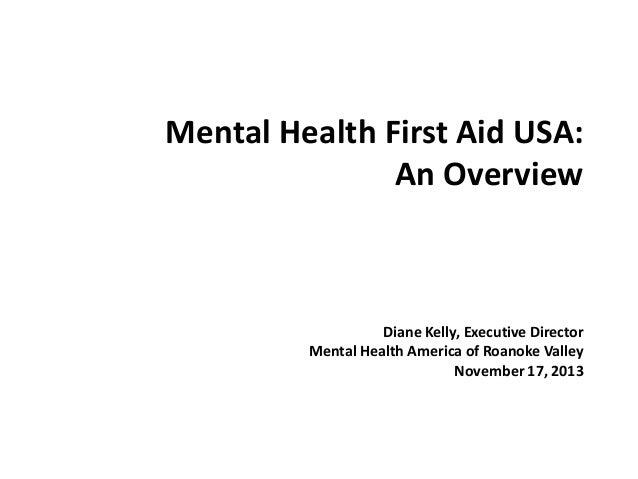 Mental healthfirstaid