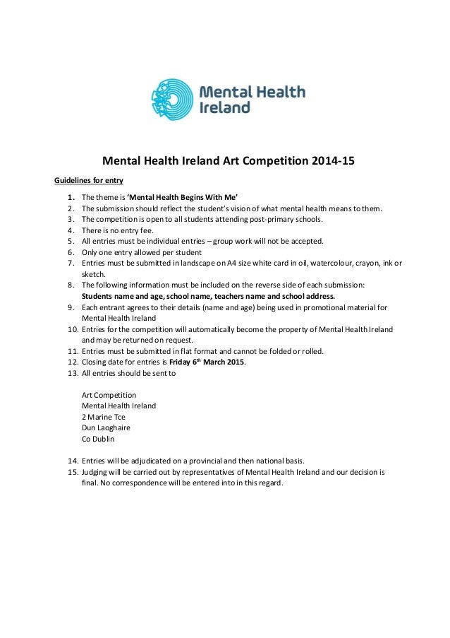mental health promotion in ireland Some general issues in effective health promotion are outlined the review then describes the application of a representative selection of mental health promotion resources in irish schools, and identifies some emerging common elements optimising the delivery and selection of resources is then discussed, and one resource is examined.