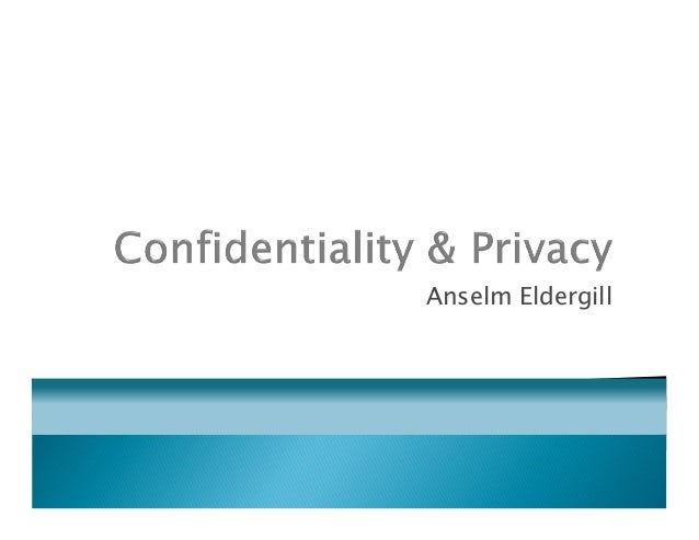 Mental health law   privacy and confidentiality