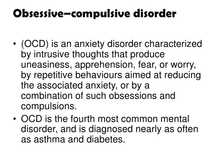 a review of the mental illness obsessive compulsive disorder