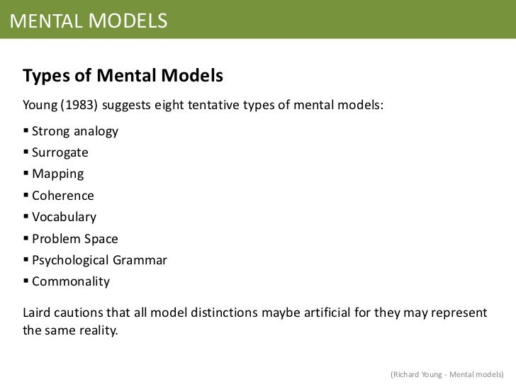 an analysis of the different models and theories of the psychological model of mind A social cognitive theory of personality  conceptions of human nature in which psychological theories are rooted is more than a  at least three different.