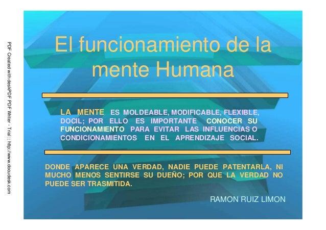Mente humana y mecanismos