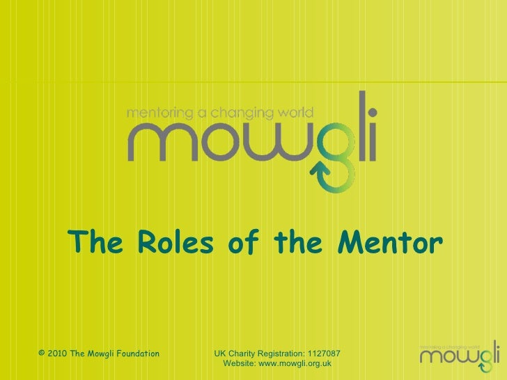 The Roles of the Mentor