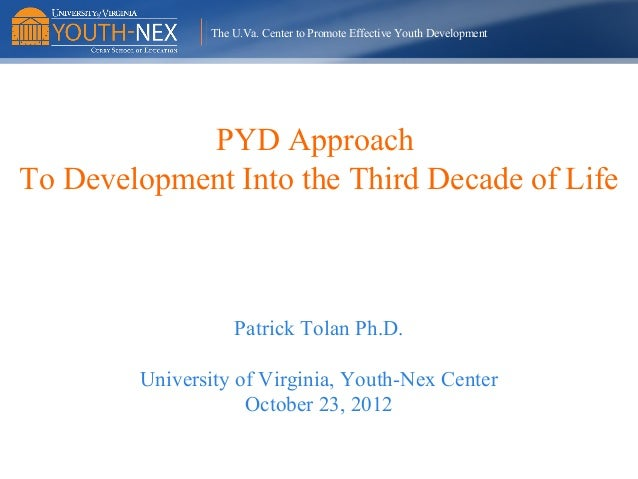 """Patrick Tolan, Ph.D. - """"Positive Youth Development and Physical Health and Well-Being"""""""