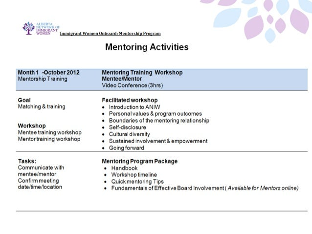 Mentoring Meetings