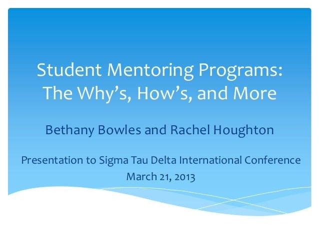 Mentoring presentation for Sigma Tau Delta