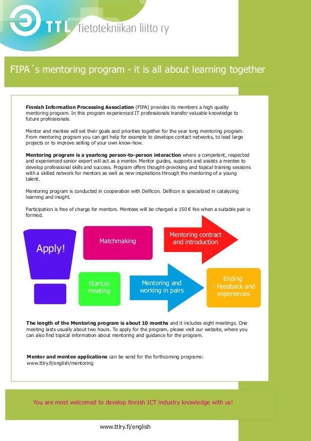 FIPA's mentoring program brochure