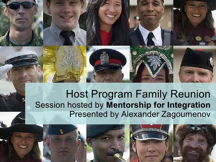 Host Program Family Reunion Session hosted by  Mentorship for Integration Presented by Alexander Zagoumenov