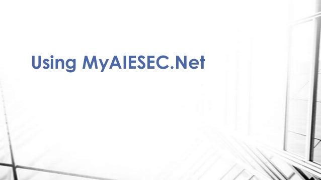 Using MyAIESEC.Net