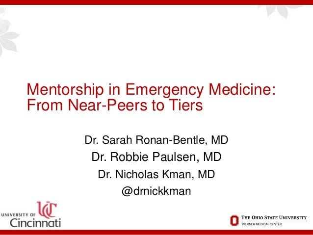 Group Mentorship Programs in Emergency Medicine