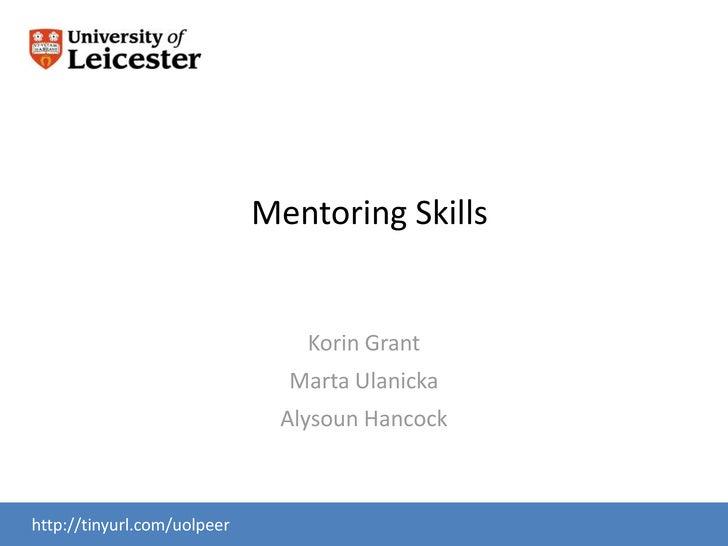 Mentor Skills session2