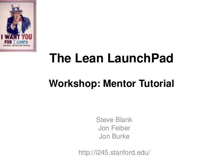Mentor workshop