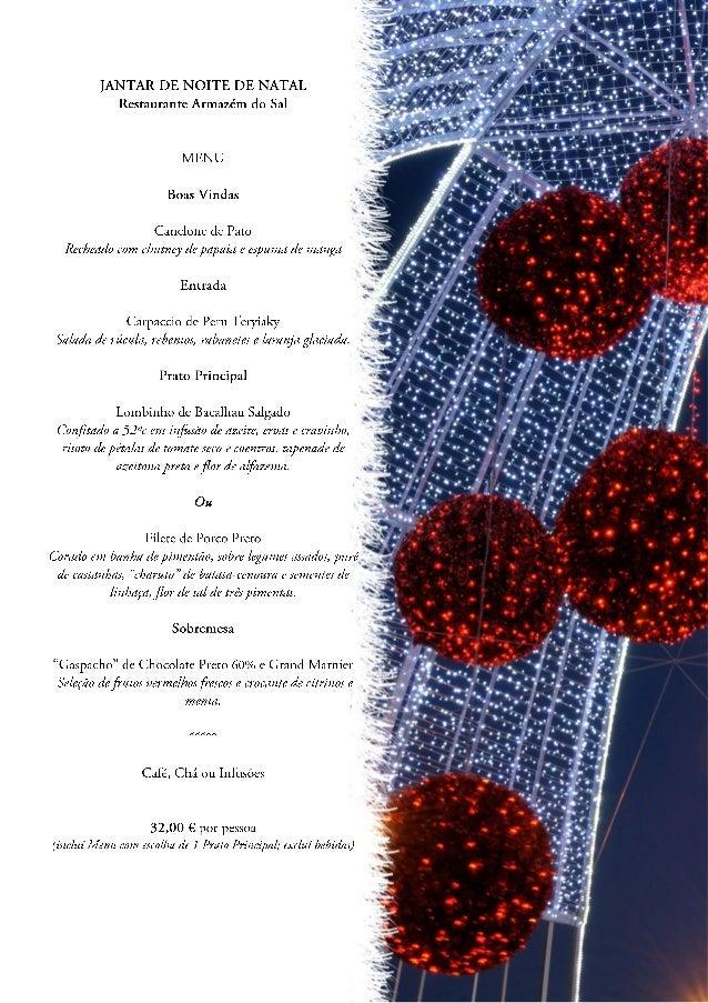 Menu de Natal / Christmas Eve Dinner - 2013