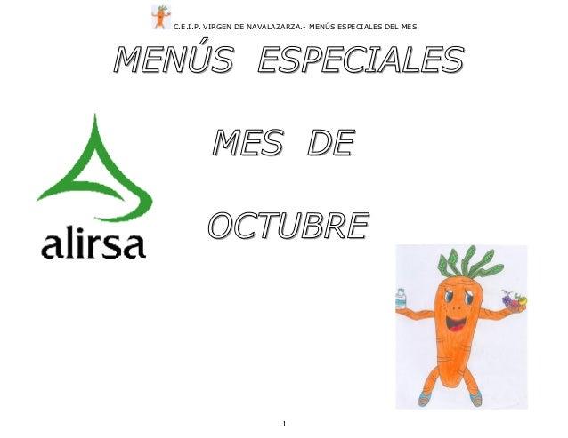 Menu especial octubre 2013