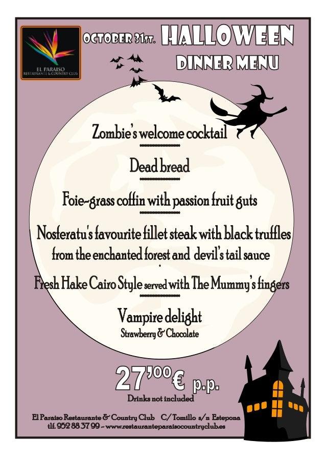 Halloween Party in Marbella 2013. Halloween Party in Estepona at El Paraíso Restaurante & Country Club 2013