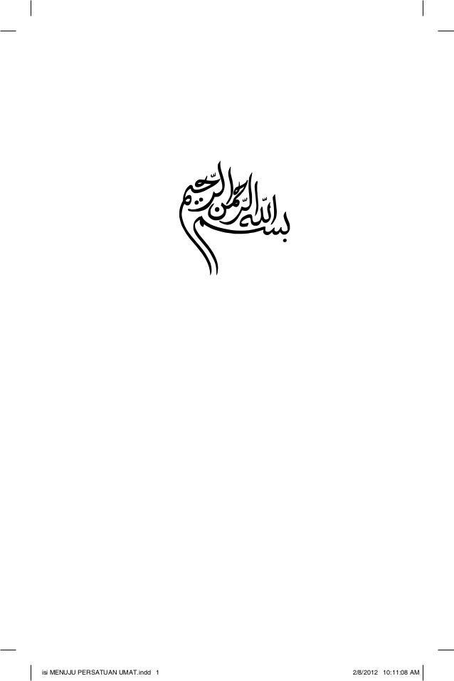 Menuju persatuan umat (ebook) - Redaksi: Syafiq Basri, dll