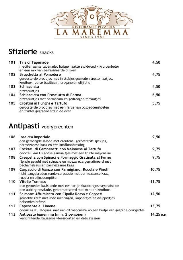 Sfizierie snacks101 Tris di Tapenade 4,50mediterraanse tapenade, huisgemaakte stokbrood + kruidenboteren een mix van gemar...