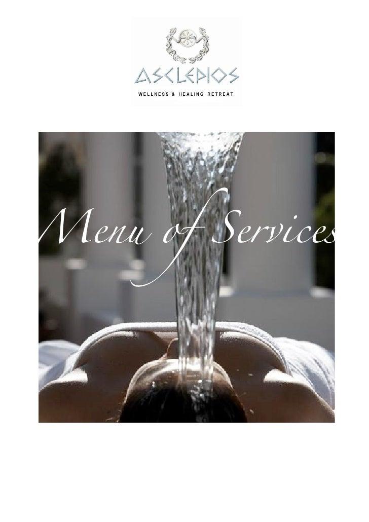 Menu of services 2011