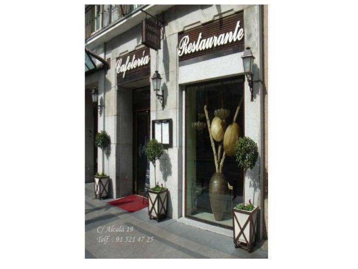 Menús de Navidad Hotel Regina Madrid