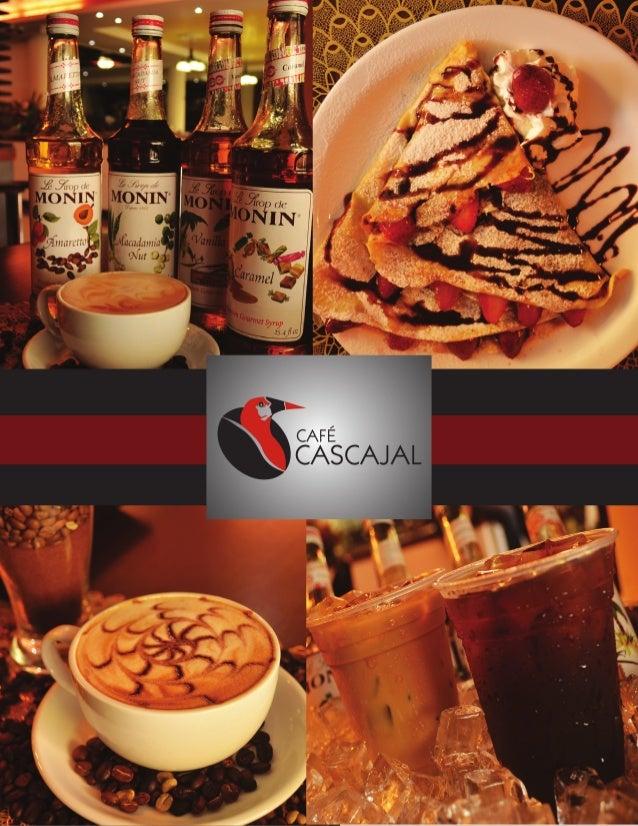 Café Cascajal- Menú