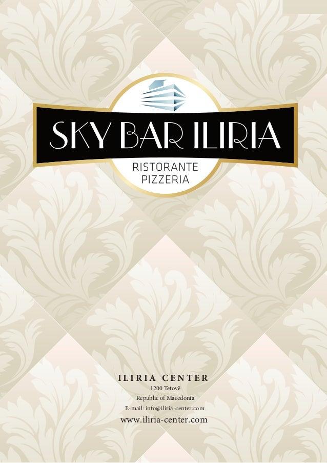 Menyja e Sky Bar Iliria