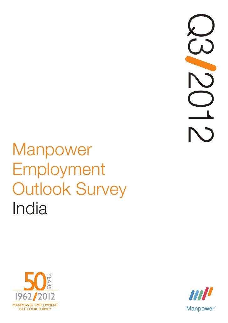 Q3 2012ManpowerEmploymentOutlook SurveyIndia